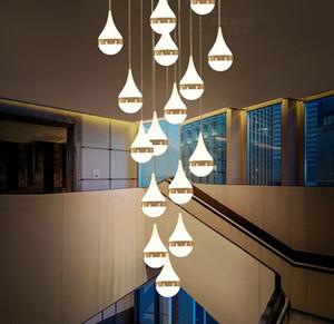 escada lâmpada villa duplex construção de sala de jantar sala de estar lâmpada pingente personalidade Hotel bar café Vendas Departmpendant lâmpada MYY