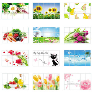 Practical Wallpaper kitchen Wall Stickers Kitchen Oilproof Removable Wall Stickers Art Decor Home Decal Fruit 60*90cm