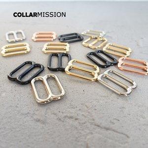 100pcs / lot boucle réglable accessoires de bricolage pour collier de chien chat ceinture de sac à coudre 20 mm détail métal plaqué de haute qualité boucle 4 couleurs