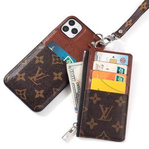 Роскошная телефонов Корпуса для IPhone 11 про макс случая случая бумажника случая телефона слот для карт памяти Марка телефона крышка для iphone XS Max XR XR 7 Case