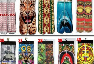 Fashion leisure sports socks Spring lovers socks 3D printed mid-tube sports socks fashion sock men's sock and women's sock11