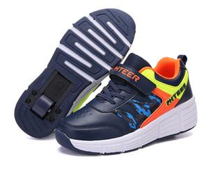 EUR 31-42 niños junior de rodillos zapatos del patín Dos Ruedas heelies Zapatos de las muchachas de edad Niños Casual Zapatos Niños zapatillas de deporte con uno /