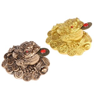 1pcs Chinese Fortune Frog Feng Shui Lucky Three Legged Money Toad Home Office Shop Business Decoration Craft Gift
