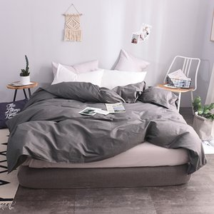 100% algodón Estilo europeo Gris oscuro Color sólido Funda nórdica 220x240cm Tamaño Funda nórdica Fundas nórdicas Cubiertas de cama Super King Size