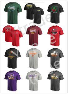 LSU Тигры NCAA Клемсон Тигры Американский футбол Wear плей-офф 2020 фаны Национальный Чемпионат моды T-Shirt Сладкий UO вершины тройники Prined