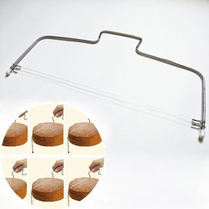 Нержавеющая сталь металла торт Cut инструменты торт Slicer устройства Double Line Регулируемая выпекание Kitchen Cutter Tool