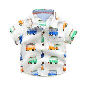 Children's Shirt Boys High Quality Shirts Baby Clothing Little boy Summer Shirt Tops Designer Cotton Cartoon Car Brand Hot Sale