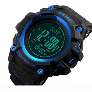 SKMEI 1358 Hommes Montres numérique Podomètre calories Baromètre Altimètre Thermomètre Boussole Météo Sport Horloge Montres-bracelets pour hommes