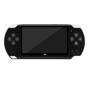 X6 4.3 Inch Handheld Game Console Player 10000 Games 32Bit 8GB Support for PSP Game Video E-Book