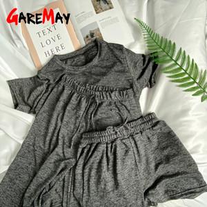 ثلاث قطع من ملابس النساء القطنية البجامة البجامة Sexy Linen Pyjama ... ... سباغيتي حزام النوم ... ... High Elastic Pijama Nightie Home Clothes