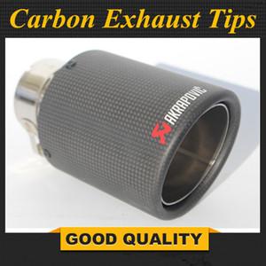 1PCS Inlet (63mm) Outlet (89mm) Akrapovic Carbon-Endrohr / Schalldämpfer Rohr für VW Autozubehör