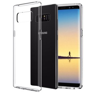 One PCS Sumsang Galaxy Note8 Note5 Note4 Note3 Note9 Case Clear Smooth ناعم لامع TPU رقيقة جدا غطاء نحيف