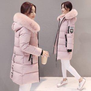 Mulheres Casaco de inverno Longo Magro Quente Designer de Casacos Com Capuz Mulheres Casacos de Algodão Elegante Casaco Básico Ocasional Outwear Feminino 2019 Kld1268 Y190827