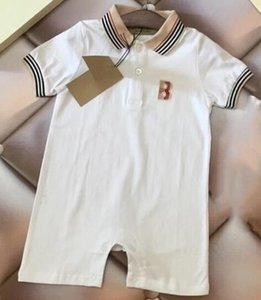 Hot new Baby boy girls Romper carta de diseñador Summer Baby jumpsuit Mameluco de manga corta Body infantil