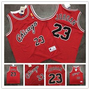 ChicagoBullsuomini CittàNBA MichaelJordan rookie rosso campioni di maglia stampa offset pallacanestro Jersey versione