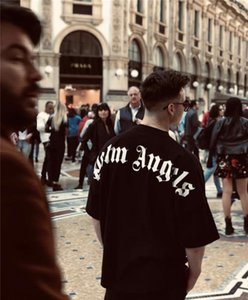 rua Plam sânscrito alfabeto de impressão ombro morcego queda de manga europeus e americanos solta T-shirt de manga curta