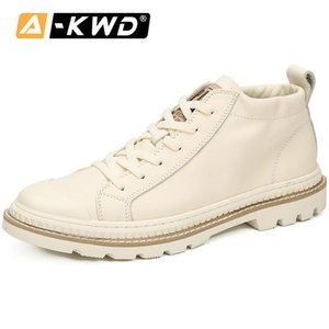 2020 Fashion Black White Tooling Shoes High Top Trainers Chaussure Homme Men Sneakers Autumn Man Shose Genuine Leather Shoes Men
