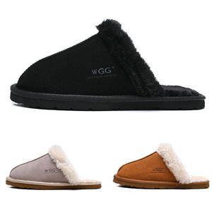 2020 femmes deisgner mode fourrure gris pantoufle marron noir sandales femme de luxe pantoufles en coton à l'intérieur des chaussures d'hiver de taille 36-41