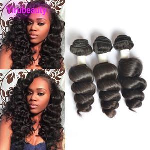 인도 밍크 인간의 머리카락 확장 제품 고품질의 느슨한 웨이브 도매 9A 버진 헤어 Wefts 자연 색상