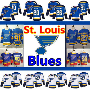 Men's St. Louis Blues Jerseys 50 Binnington 90 Ryan O'Reilly 10 Schenn 27 Pietrangelo 91 Vladimir Tarasenko 55 Colton Parayko Hockey Jersey