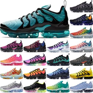TN Plus-olympischen Frauen Laufschuhe Herren grau Team Orange Geometric Schwarz Weiß kühlen persischer violett Regenbogen hyper blau Sport Designer-Schuhe