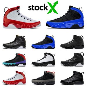 Stock X Jumpman 9 9s Men Basketball Shoes Gym Red Black White Bred Citrus Anthracite Racer Blue Mens Trainers TOP Sports Sneakers 7-13