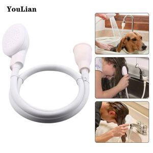 Multi-funzione Pet Dog Cat soffione Rubinetto Spray Heads toilette Vasca Spruzzatori Scarichi bagni Filtro acqua Shampoo utensili