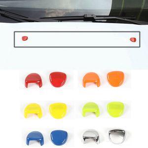 ABS araç ön camı yıkama memesi Caps Dekorasyon aksesuarları Için Jeep Renegade 2016 up araba dış aksesuarları