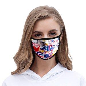 Дизайнер маска для взрослых Мода Хлопок лица Маски Дети Print Мультфильм Камуфляж Ice Шелковый Солнцезащитный пыле и дышащая # QA408