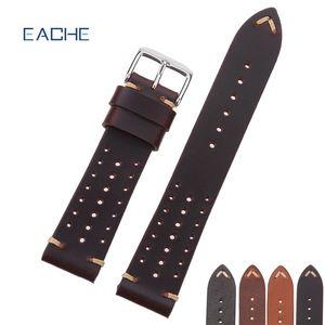 Montres EACHE Populaire spécial trou design Bracelets montres en cuir véritable Calfskin Racing Band 18 sangles Bracelet en 20mm 22mm