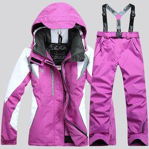 2020 nouvelles vestes de costume de ski chaud imperméable et les femmes pantalons en plein air femmes veste + pantalon femmes costumes skis et manteau femmes vêtements extérieur