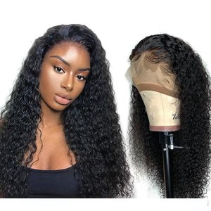Fake Scalp Curly Wig Human Hair With Baby Hair Unprocessed Brazilian Remy Curly Human Hair Lace Front Wigs For Black Women