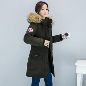 Мода осень и зима новых женщин толстого хлопка пальто Тонких мод большого меховой collaize студент хлопок clothesDown проложенный девушка