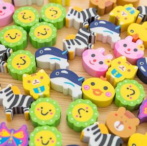 도매 크리 에이 티브 만화 지우개 다채로운 동물 공장 지우개 초등학교 귀여운 학교 용품 선물 편지지 세트