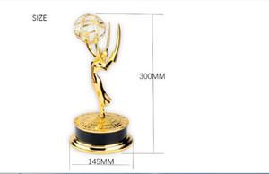 2020 Free gemi Altın Metal Emmy Trophy ödülü Fabrika Doğrudan Satış Özelleştirilmiş Kurumsal kupa Boyut 30cm 39cm