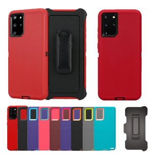 For samsung Galaxy S20 Ultra S10 S9 Plus Note 10 Designer Phone Case Heavy Duty Robot Shockproof Defender Case With Clip Free Shipping