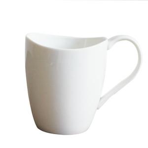 Seramik Pürüzsüz Gülümseme Fincan Saf Beyaz Kahve Kupalar Özgünlük Basitlik Su Bardak Hediye Yüksek Kapasiteli Ekli Kolu 6 5 myb1