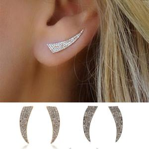 925 silver Earrings Womens rhinestone Stud Luxury Diamond Earring Jewelry Gifts For Girl Women
