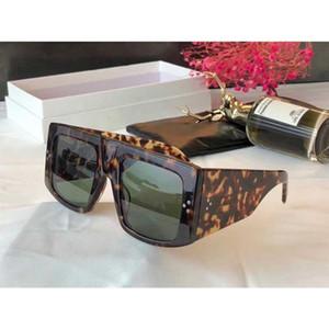 Kadınların büyük kare kare yeni güneş gözlüğü Basit bir atmosfer vahşi tarzı UV400 koruma mercek gözlük 4S105 için 2020 modacı güneş gözlüğü