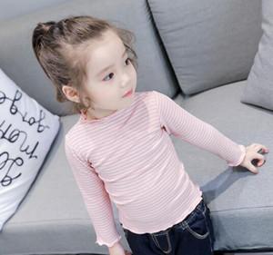 2019 In autunno Nuovi bambini alla moda con stile La bambina piccola striscia T-shirt a maniche lunghe QPP0011