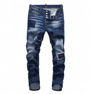 Nuovi jeans da uomo 2019 Moda casual europeo e americano primavera e autunno pantaloni lunghi degli uomini D7903 Off White Balmain PHILIPP PLEIN DSQUARED2 DSQ2 D2 GUCCI
