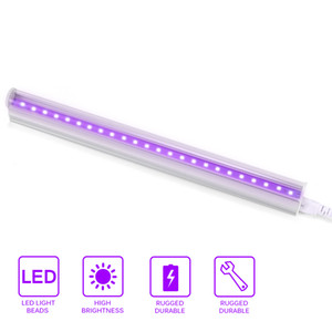 Disinfection Sterilize UV Purple LED Tube Light Bar 5W T5 Lamp Lighting For Fluorescent Party Stage Light US EU Plug