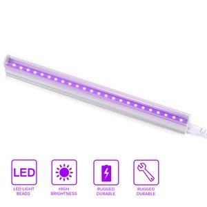 Luce della fase del tubo del LED Disinfezione Sterilizzazione UV viola Partito fluorescente Bar 5W T5 lampada di illuminazione per la luce US / EU Plug