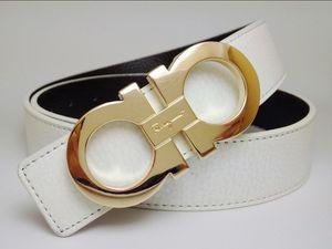 Hot Fashion brand men Gg buckle fashion genuine leather design V belts for men Letter Double H buckle men womenFERRAGAMObelts