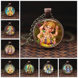 Lakshmi Göttin Glaskuppel Mode Accessoires Halskette Schmuck Hinduismus Amulett Charm Glas Cabochon Anhänger für Sie oder Ihn