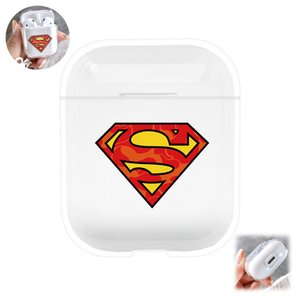 Cute cartoon Transparent Cover for apple Airpods Case Hard PC shell Hook Clasp Anti Lost water proof Earphone Case scratch prevention bag