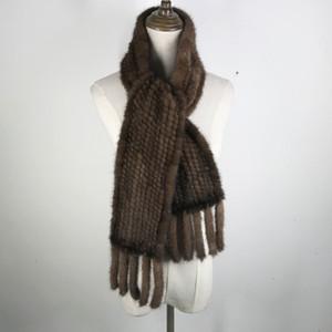 Wholesale-женщина реальный норки шарф 100% подлинный реальные норки Глушитель хорошего качества оптом и в рознице 2017 года реальных норок трикотажных шарфов