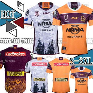 2019 Australia Brisbane Broncos Rugby Jersey Brisbane Broncos Anzac 2019 Men Indigenous Jerseys Australia NRL Rugby League Jersey shirts