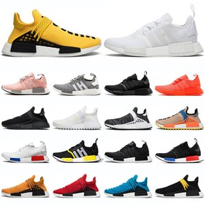adidas nmd r1 shoes Hu human race Pharrell Williams uomo donna scarpe da corsa triple black white Nerd giallo mens trainer sneakers sportive runner