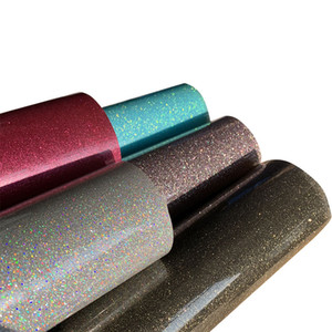 """30cmx50cm (12 """"X20"""") 아름다운 색 반짝이 열전달 비닐 필름 열을 눌러 T 셔츠 철에 HTV 인쇄 DIY 의류 필름"""